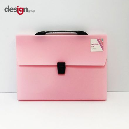 IG Design Group Expanding File Pastel Pink - 13 Pocket